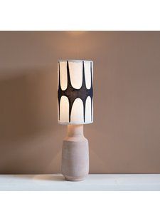 Petite Lily Interiors Table Lamp Tribal Linen - ceramic / linen - Ø20x69cm