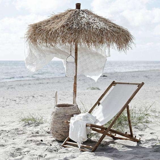 Lene Bjerre Design Bamboo Parasol - Ø150x240cm - Lene Bjerre Design