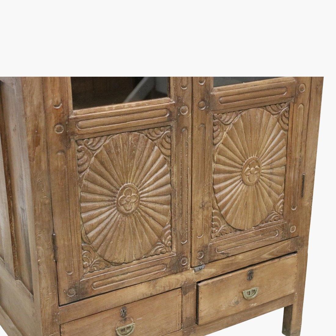 Petite Lily Interiors Armoire indienne en teck - 91x56xh172cm - Piece Unique