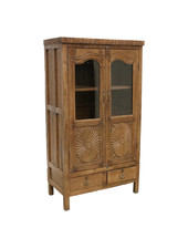 Petite Lily Interiors Cabinet India - teak wood - 91x56xh172cm - Unique Piece