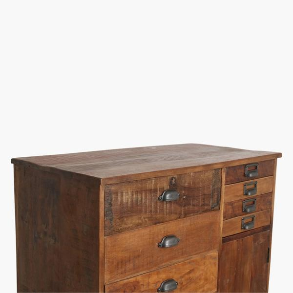 Petite Lily Interiors Meuble de métier d'atelier bois - 90x46xH120 - Pièce unique