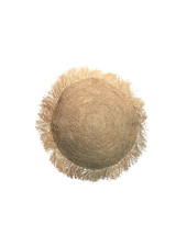 Bazar Bizar Cushion Raffia round - Natural - Ø40cm