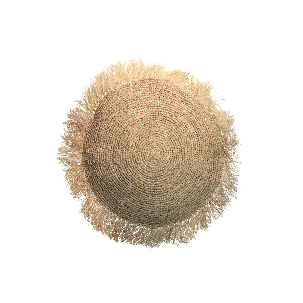 Bazar Bizar Coussin raphia rond - naturel - Ø40cm