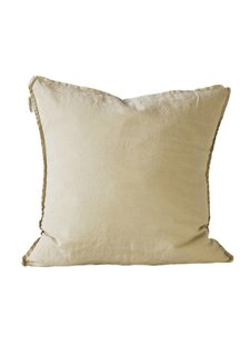 Tell me more Housse de coussin 100% lin - sable - 65x65cm - Tell Me More