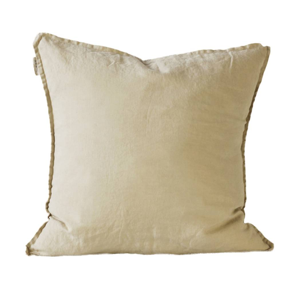 Tell me more Cushion cover 100% stonewashed linen - sand - 65x65cm - Tell Me More