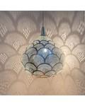 Zenza Lampe Suspension 'Loaf Fan' - Ø33x37cm - Laiton argenté - Zenza