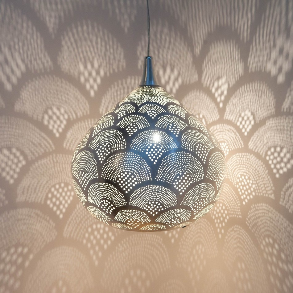 Zenza Pendant Lamp - Loaf Fan - Ø33x37cm - silver - Zenza