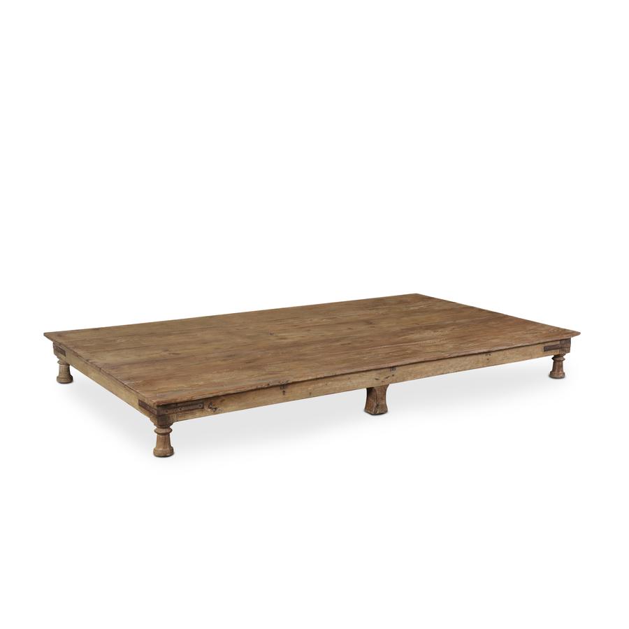 Petite Lily Interiors Table basse indienne en bois - 220x125x23cm - piece unique