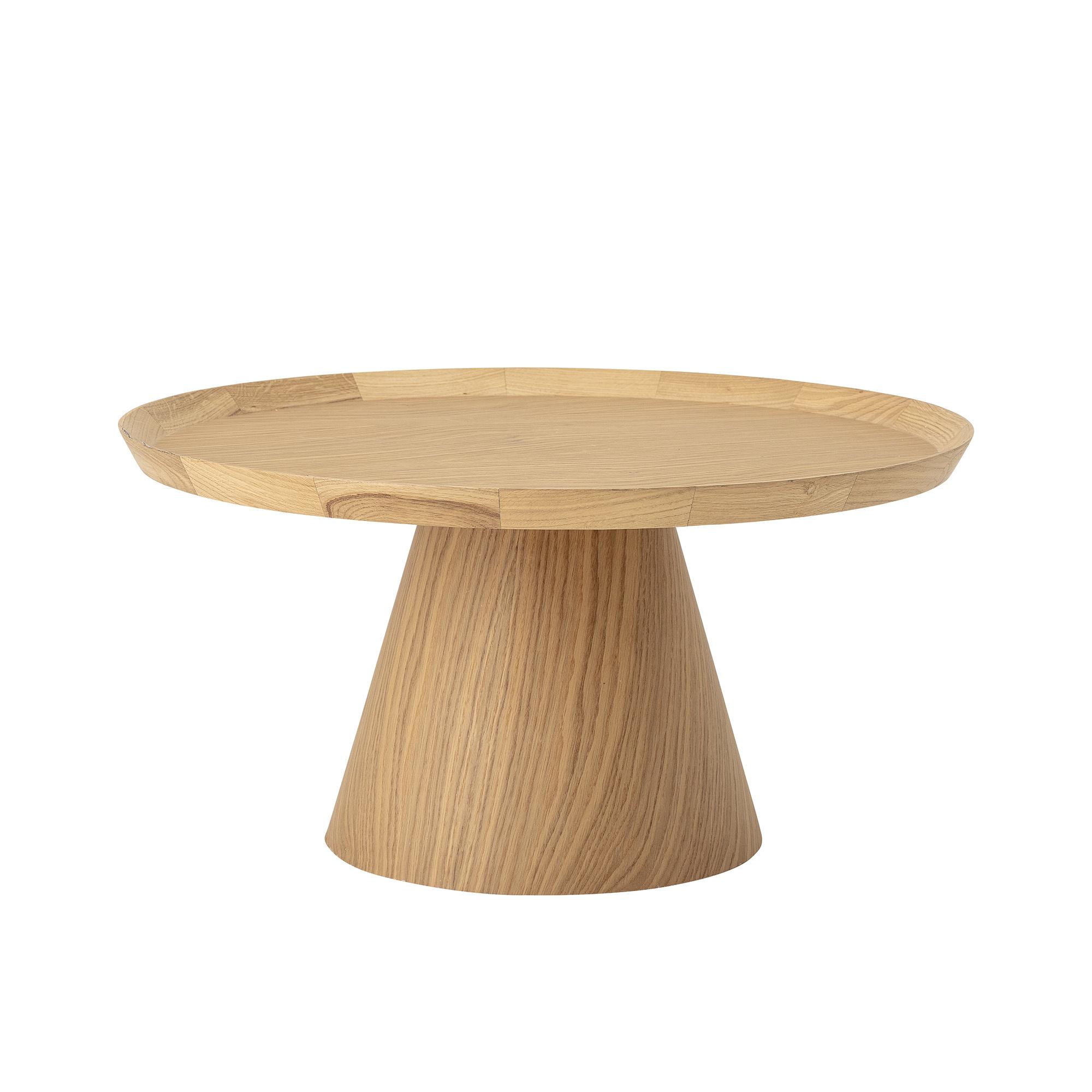 Bloomingville Table à café ronde Scandinave Luana - Roble - Ø74xh37cm - Bloomingville