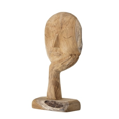 Bloomingville Sculpture décorative du bois recyclé - L18xH35cm - Bloomingville