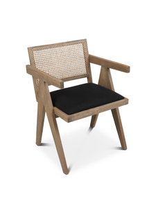 Petite Lily Interiors Chair Untreated wood - Natural / black - 54x51x74cm