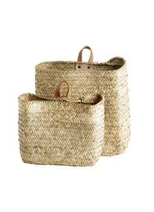 TineKHome Set of 2 Natural wall baskets - natural - 43xh35cm y 25xh23cm