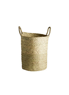 TineKHome Laundry basket palm leaves - Ø40Xh43cm - TinekHome