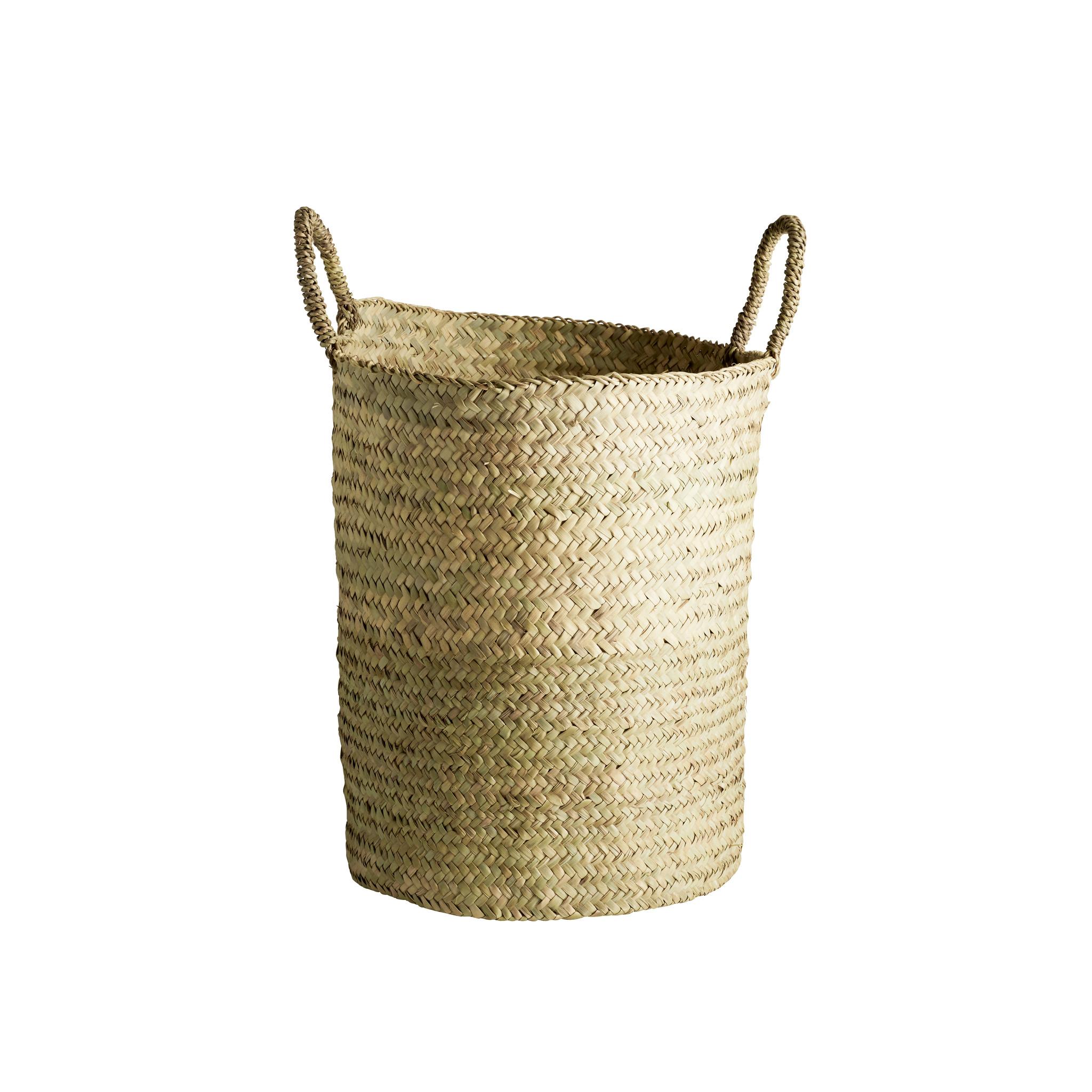 TineKHome Laundry basket palm leaves - Ø40Xh43cm - TinekHome