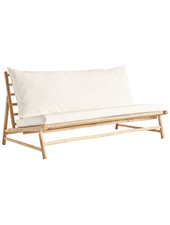 TineKHome Bamboo sofa w/ white mattress - Outdoor - 160x87xH45/80cm