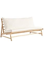 TineKHome Canapé d'extérieur en bambou avec coussin - 160x87xH45/80cm