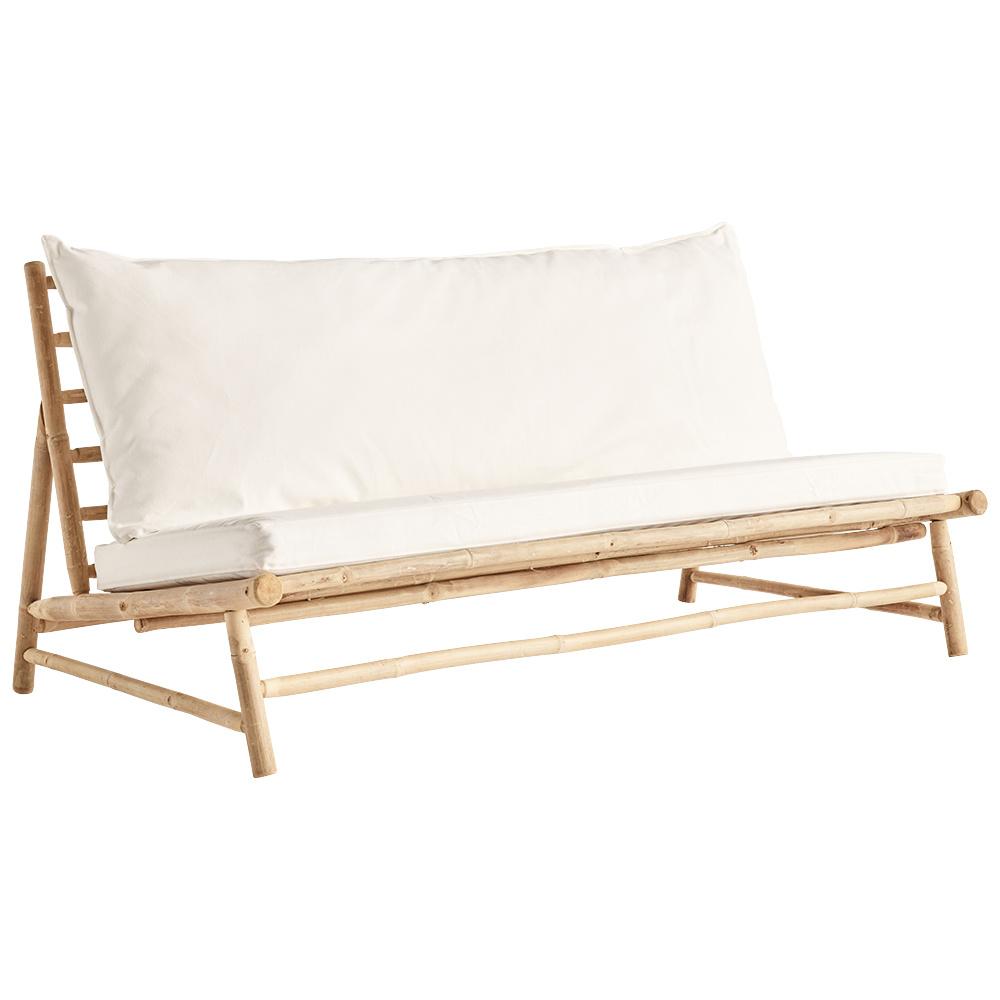TineKHome Canapé d'extérieur en bambou avec coussin - 160x87xH45/80cm - Tinekhome