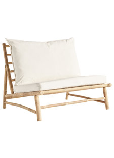 TineKHome Bamboo sofa w/ white mattress - Outdoor - W100x87xH45/80cm