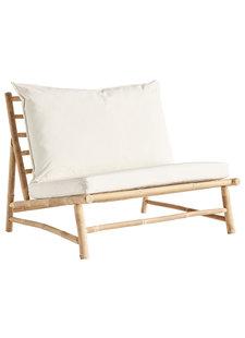 TineKHome Canapé d'extérieur en bambou avec coussin - W100x87xH45/80cm