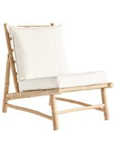 TineKHome Bambou lounge chair with white mattrass - W55x87xh45/80cm