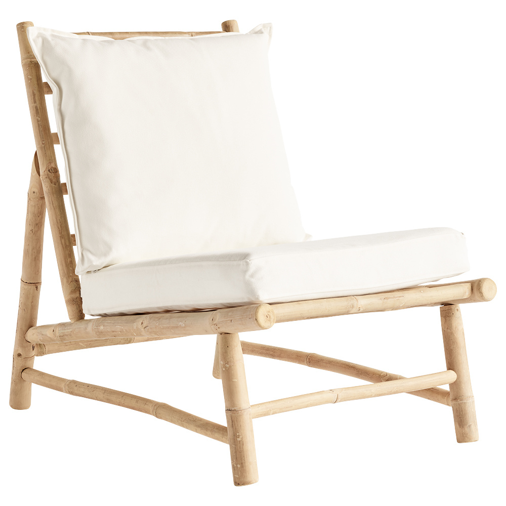 TineKHome Bambou lounge chair with white mattrass - 55x87xh45/80cm