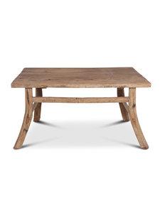 Table de salle à manger bois brut recyclé  - 138x90x72cm