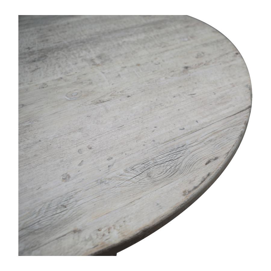 Petite Lily Interiors table de salle à manger ronde en bois brut - Ø110x77cm - piece unique