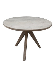 Petite Lily Interiors Round dining room table raw wood - Ø110x77cm - unique item