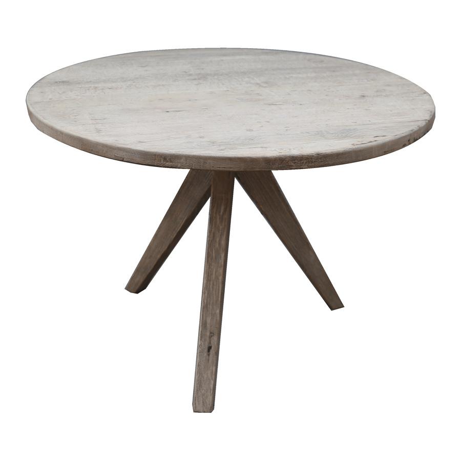 Petite Lily Interiors Round dining room table raw wood - Ø110x77cm - unique item