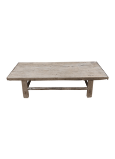 Petite Lily Interiors Raw wood coffee table - 93x59xh30cm - Elm Wood