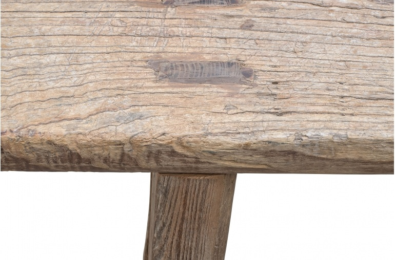 Petite Lily Interiors Bench Raw wood - 156x12xh49cm - Unique Product