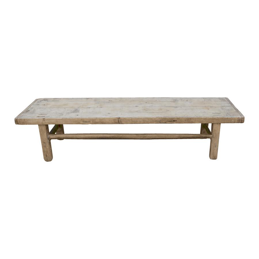 Petite Lily Interiors Table basse bois brut - 182x51x41cm - Bois d'orme