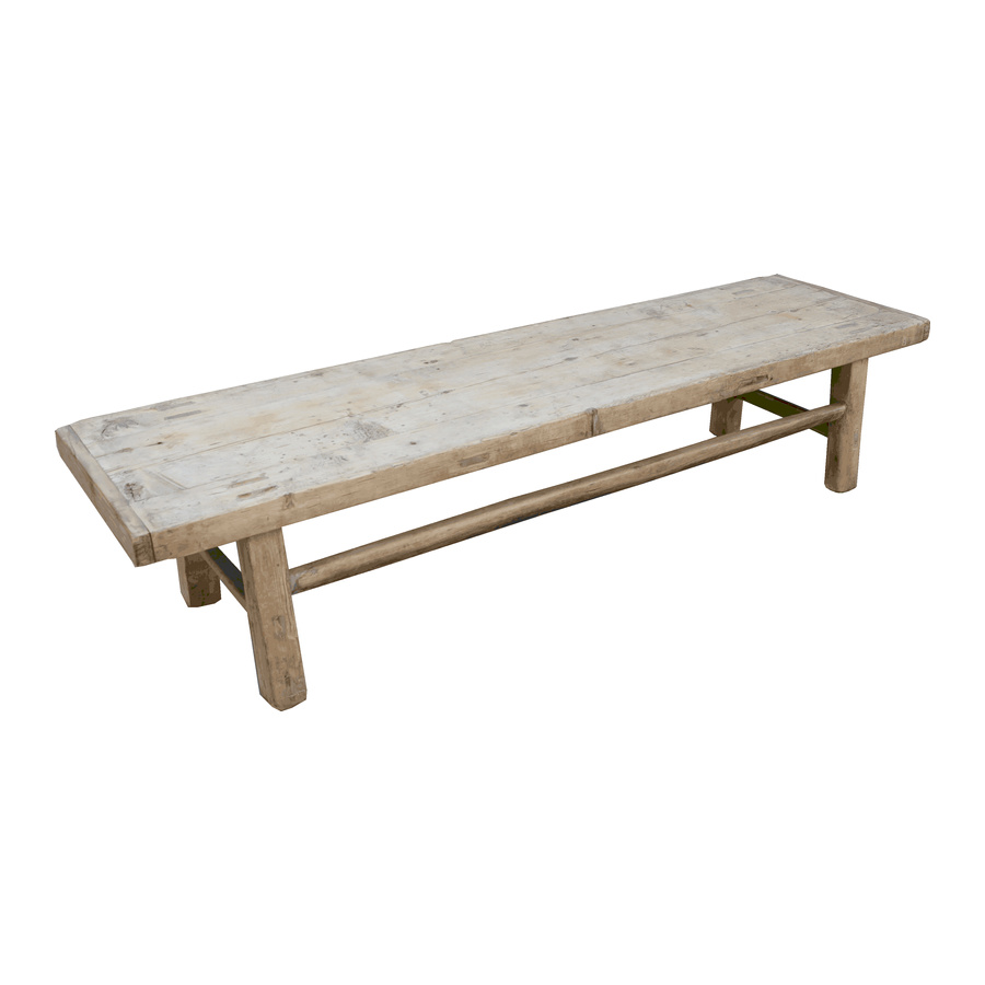 Petite Lily Interiors Natural coffee table - 182x51x41cm - Elm Wood