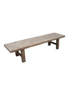 Petite Lily Interiors Raw wood coffee table - 190x50x43cm - Elm Wood