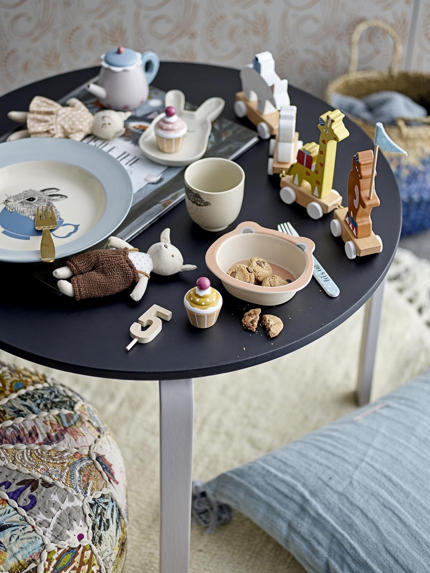Bloomingville Pouf en coton - multicolore - Ø45xH20cm - Bloomingville