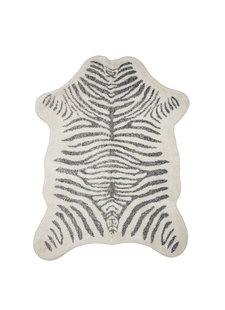 Bloomingville Tapis Zebra - gris - L190xW145cm - Bloomingville