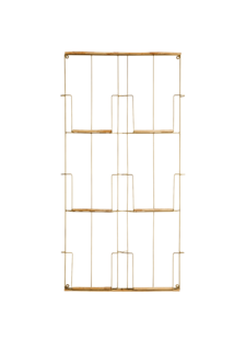 Madam Stoltz Magazine rack in brass and metal - 97x53x4cm