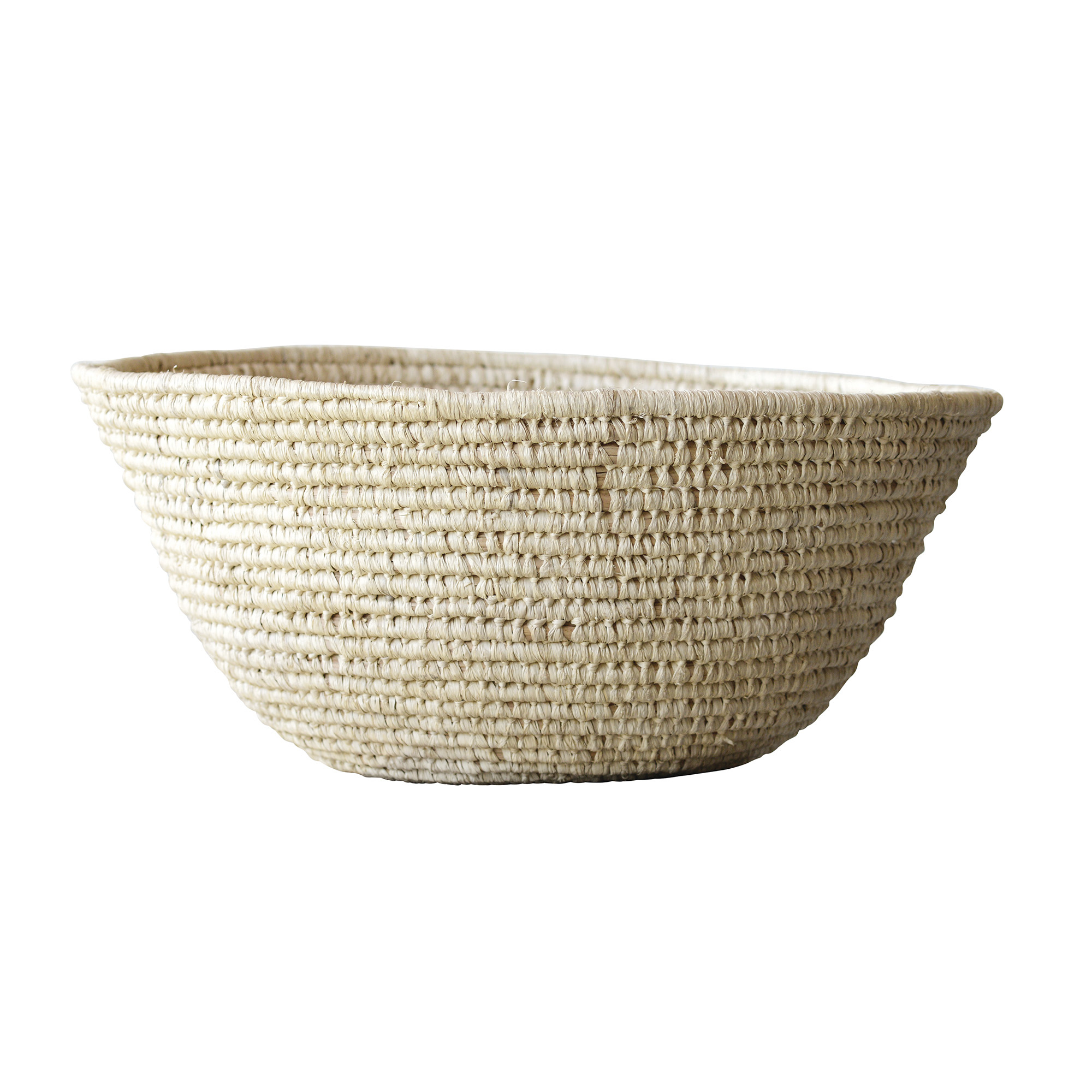 Bloomingville Raffia basket - natural - Ø66xh28cm - Bloomingville