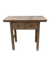 Snowdrops Copenhagen Table console avec tiroirs - Bois brut - 99x46xh83cm