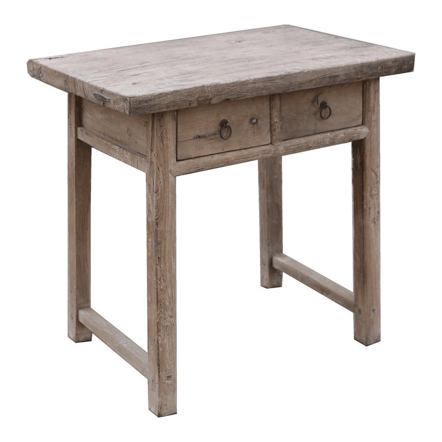 Snowdrops Copenhagen Table console avec tiroirs - Bois brut - 89x56x86cm