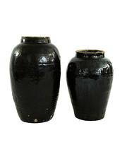 Snowdrops Copenhagen Jar Vintage - Ø30xh50cm - black - unique item