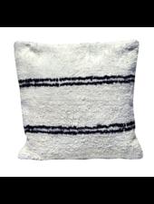 Snowdrops Copenhagen Coussin en coton ANDALUSIA - blanc/noir - 50x50cm