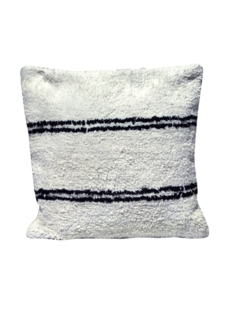 Snowdrops Copenhagen Cushion cotton ANDALUSIA - black/white - 50x50cm
