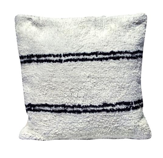 Snowdrops Copenhagen Cushion cotton ANDALUSIA - black/white - 50x50cm