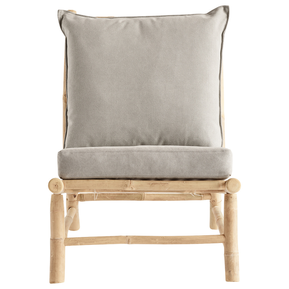 TineKHome Bambou lounge chair with gris mattrass - 55x87xh45/80cm