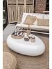 Bazar Bizar Table basse Haute brillance Blanche - intérieure et extérieure - 110x80xh35cm