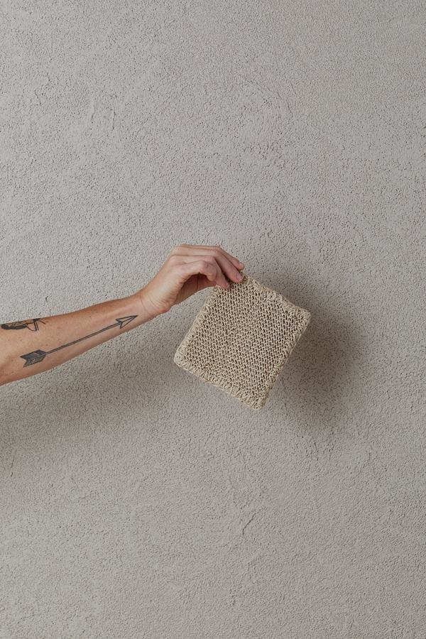 the dharma door  Hemp Body Scrubber - 17x13cm - TheDharmaDoor