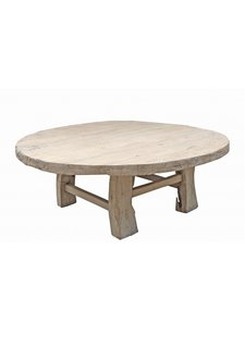Petite Lily Interiors Natural coffee table rond - 124xh45cm - Unique Item