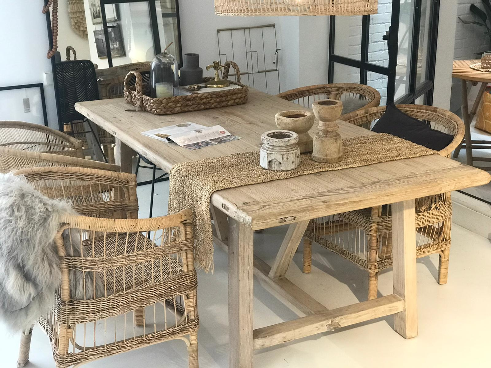 Snowdrops Copenhagen Dining room table recycled pine wood - 200x100xh78H - unique piece