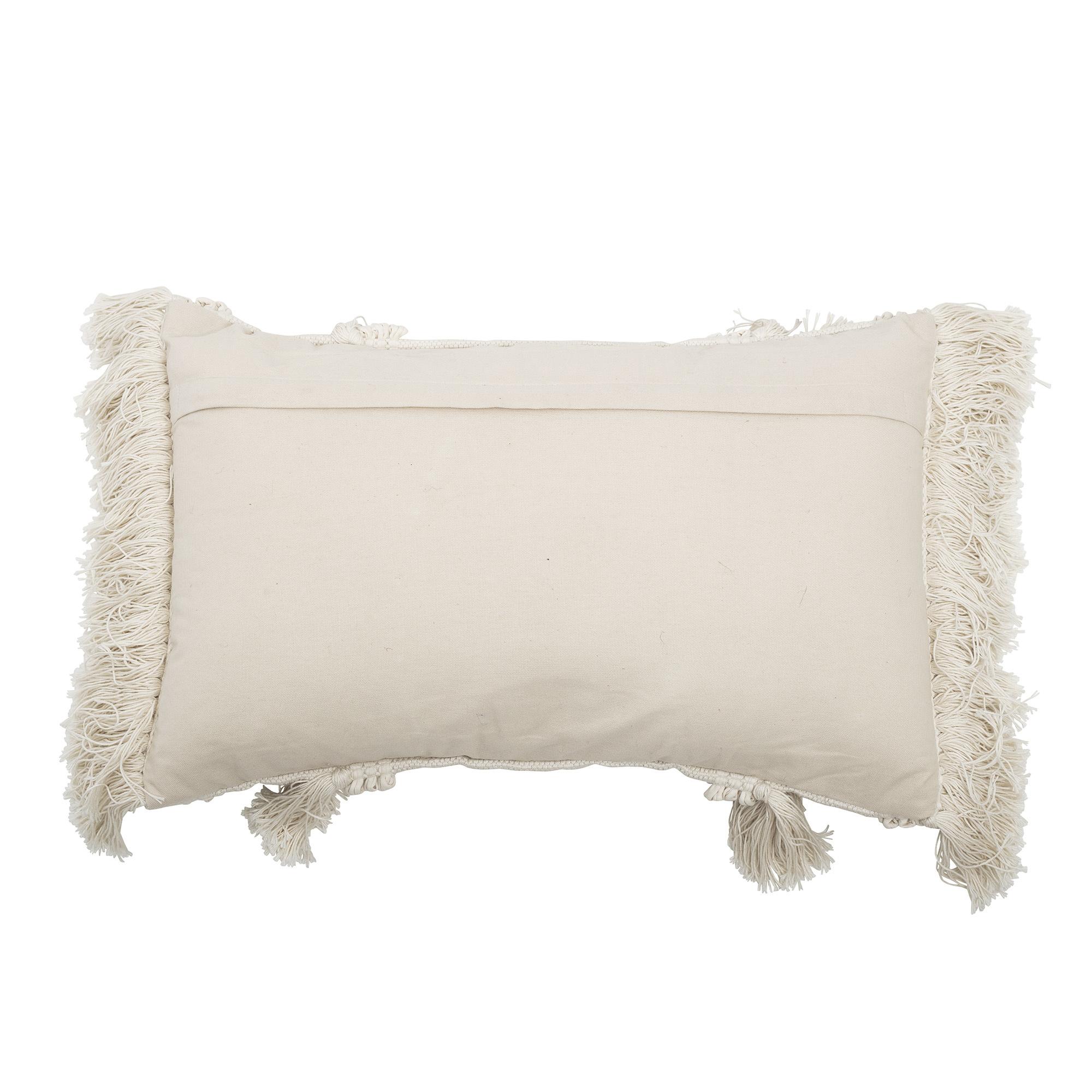 Bloomingville Coussin en coton - blanc - L60xW40 - Bloomingville